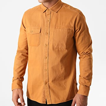 Solid - Chemise Manches Longues Maks Camel