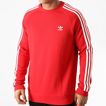 Adidas Originals - Sweat Crewneck A Bandes ED6017 Rouge