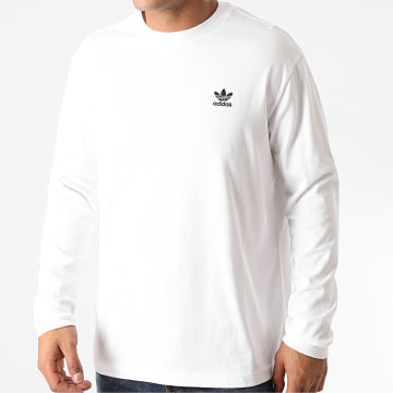 Adidas Originals - Tee Shirt Manches Longues Back + Front Trefoil GE0860 Blanc