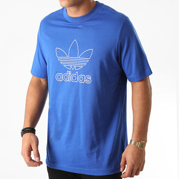 Adidas Originals - Tee Shirt Trefoil Outline GF4098 Bleu Roi