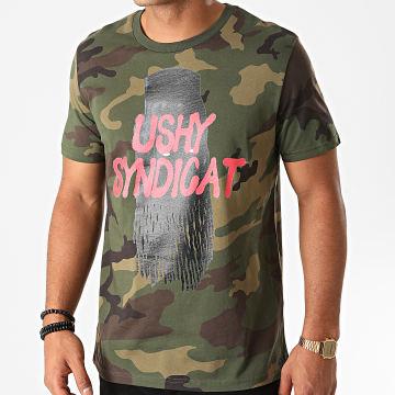 Cheu-B - Tee Shirt Ushy Camouflage Vert Kaki