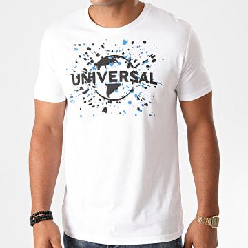 Universal Studio - Tee Shirt Universal Logo Splatter Blanc