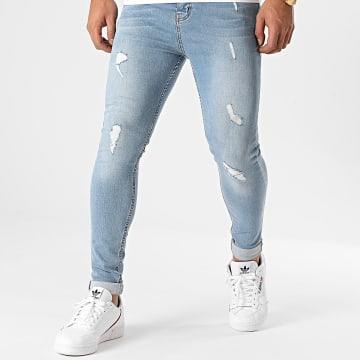 LBO - Jean Super Skinny Fit Destroy 1414 Denim Bleu Wash