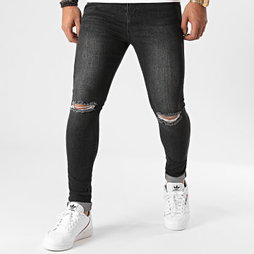 LBO - Jean Super Skinny Fit Destroy 1416 Denim Gris Foncé
