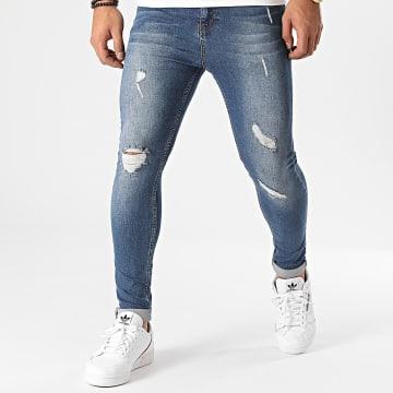 LBO - Jean Super Skinny Fit Destroy 1427 Bleu Denim