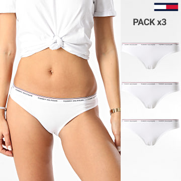 Tommy Hilfiger - Lot De 3 Culottes Femme Bikini 0043 Blanc