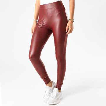 Only - Legging Femme Cool Coated Bordeaux