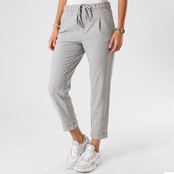 Only - Pantalon Femme Rossy Rita Sporty Gris Chiné
