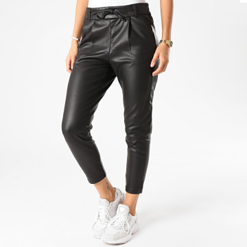 Only - Pantalon Femme Poptrash Easy Coated Noir