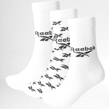 Reebok - Lot De 3 Paires De Chaussettes GG6682 Blanc
