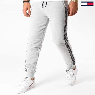 Tommy Hilfiger - Pantalon Jogging A Bandes 0706 Gris Chiné