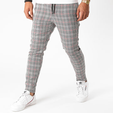 Only And Sons - Pantalon A Carreaux Linus Gris