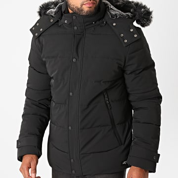 Teddy Smith - Parka Fourrure Julius Noir