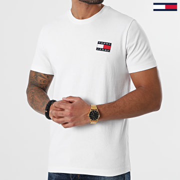 Tommy Jeans - Tee Shirt Tommy Badge 6595 Blanc
