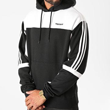 Adidas Originals - Sweat Capuche A Bandes Classics GD2077 Noir Blanc