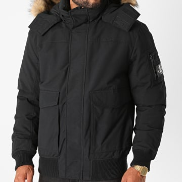 Calvin Klein - Veste Zippée Capuche Fourrure Fur Trimmed Down 6662 Noir