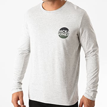 Jack And Jones - Tee Shirt Manches Longues Torpedo Gris Chiné