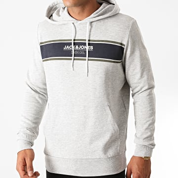 Jack And Jones - Sweat Capuche Shaker Gris Chiné