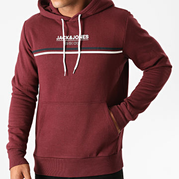 Jack And Jones - Sweat Capuche Shaker Bordeaux