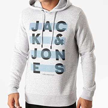 Jack And Jones - Sweat Capuche Jumbo Gris Chiné