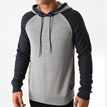 Jack And Jones - Pull Capuche Luke Knit Gris Chiné