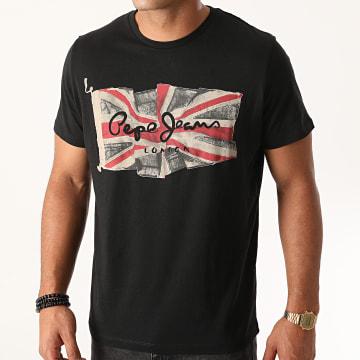 Pepe Jeans - Tee Shirt Flag Logo PM505671 Noir