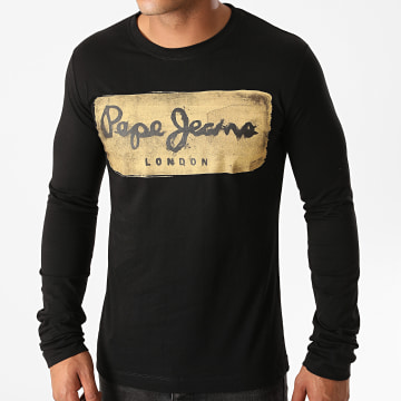 Pepe Jeans - Tee Shirt Manches Longues Charing PM503484 Noir