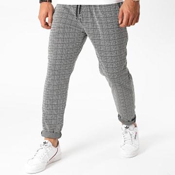 Terance Kole - Pantalon A Carreaux TK331 Gris