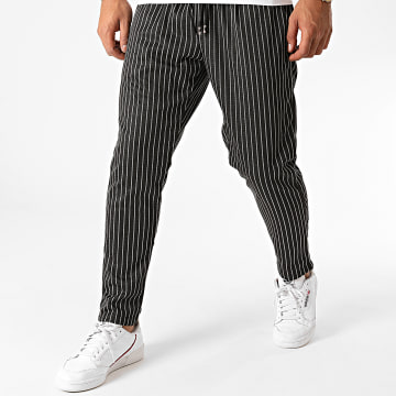Terance Kole - Pantalon A Rayures TK332 Noir