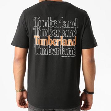 Timberland - Tee Shirt White Linear Logo A2E9J Noir