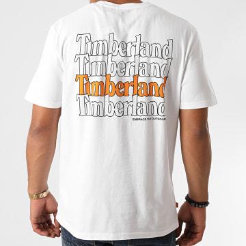 Timberland - Tee Shirt Black Linear Logo A2E9J Blanc