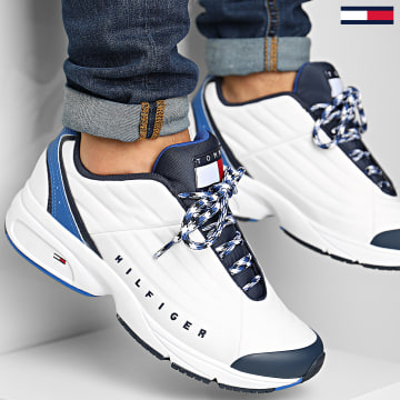 Tommy Jeans - Baskets Archive Heritage Mix Sneaker 0585 White