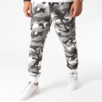 Aarhon - Pantalon Jogging Camouflage AARJ264 Gris