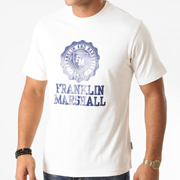 Franklin And Marshall - Tee Shirt JM3014-1000P01 Ecru