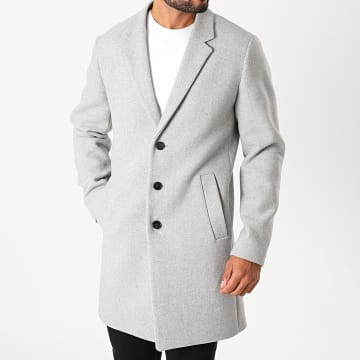 Jack And Jones - Manteau Moulder Gris Clair Chiné