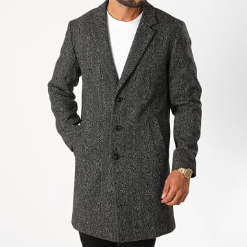 Jack And Jones - Manteau Moulder Gris Anthracite Chiné