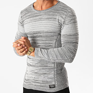 Paname Brothers - Pull PNM-206 Gris Chiné