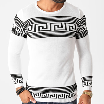 Paname Brothers - Pull PNM-208 Blanc Noir