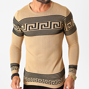 Paname Brothers - Pull PNM-208 Marron Noir