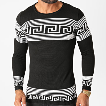 Paname Brothers - Pull PNM-208 Noir Blanc