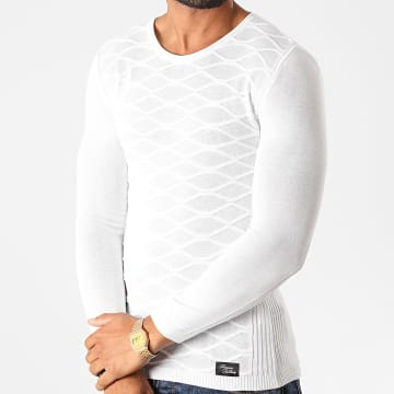 Paname Brothers - Pull PNM-201 Blanc