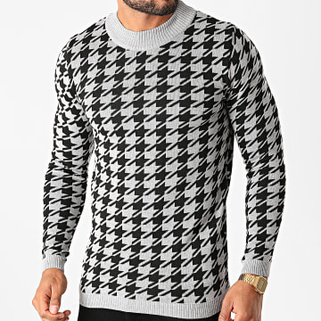 Paname Brothers - Pull PNM-204 Gris Noir