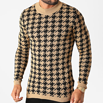Paname Brothers - Pull PNM-204 Camel Noir