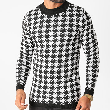 Paname Brothers - Pull PNM-204 Blanc Noir