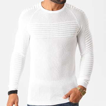 Paname Brothers - Pull PNM-202 Blanc