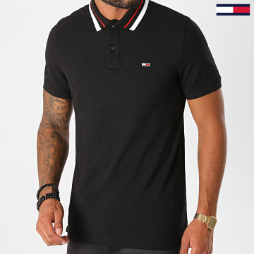 Tommy Jeans - Polo Manches Courtes Classics Tipped 9440 Noir