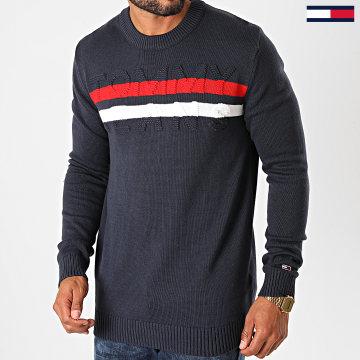 Tommy Jeans - Pull Block Stripe 9465 Bleu Marine