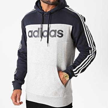 Adidas Performance - Sweat Capuche A Bandes GL7464 Bleu Marine
