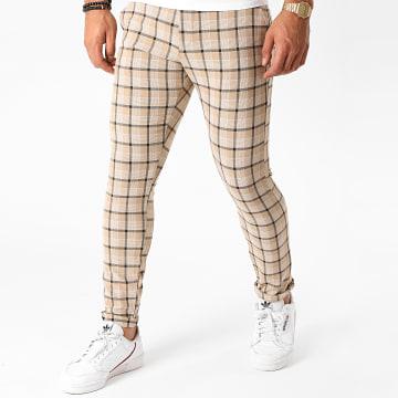 Armita - Pantalon Carreaux PAK-420 Beige