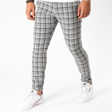 Armita - Pantalon Carreaux PAK-420 Gris Noir